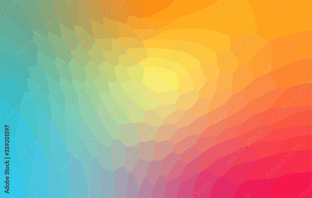 Fototapeta  Rainbow irregular geometric background. Polygon abstract design. Vector  illustration EPS