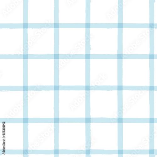 Fotografie, Tablou Blue Gingham seamless pattern