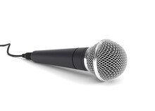 Microphone Isolated On White 3...