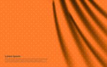 Luxury Orange Curtain Background