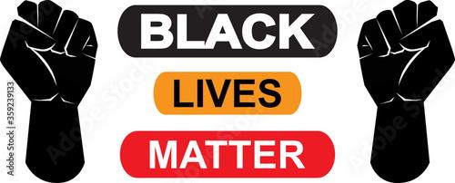 Black lives matter icon on white background, vector illustration Fototapet