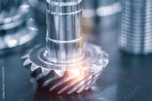 Fototapeta Industrial  concept.  metal details industrial design background obraz