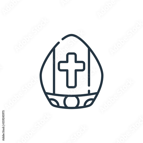 Fényképezés pope vector icon isolated on white background