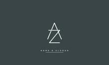 AZ ,ZA ,A ,Z Abstract Letters Logo Monogram