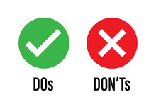 Do Dont Icon. Good True Dos An...
