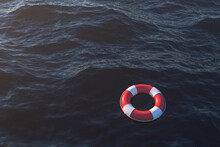 Life Buoy On The Ocean Surface...