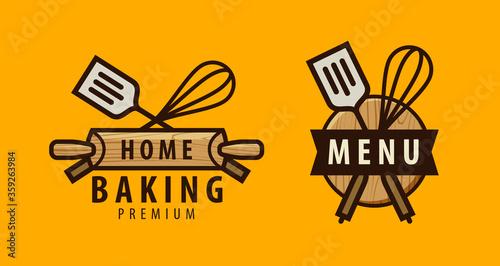 Cuisine, cooking logo or label Fototapete