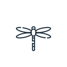 Dragonfly Vector Icon Isolated...
