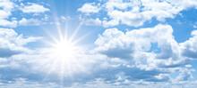 Hot Cloudy Summer Background B...
