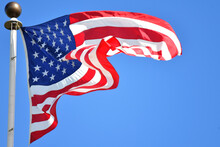 An American Flag Flutters In T...