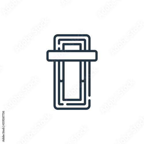 Vászonkép power vector icon isolated on white background