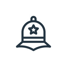 Police Hat Vector Icon Isolate...