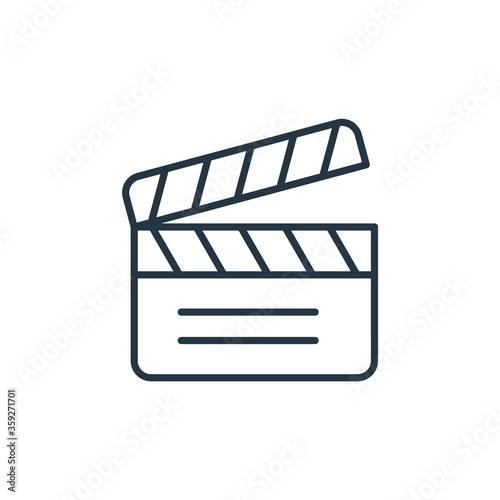 Fotografia clapperboard vector icon isolated on white background
