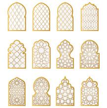 Arabic Door And Window Vector Silhouette