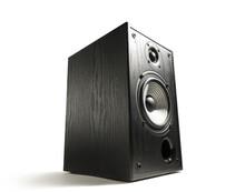 Black Wooden Sound Speaker On ...
