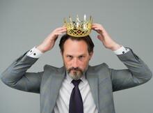 Fancy Himself As King. Bearded...