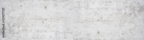 Fototapeta White gray concrete stone cement wall banner background panorama long   obraz