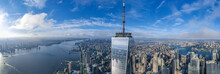 Aerial View Of New York Manhat...