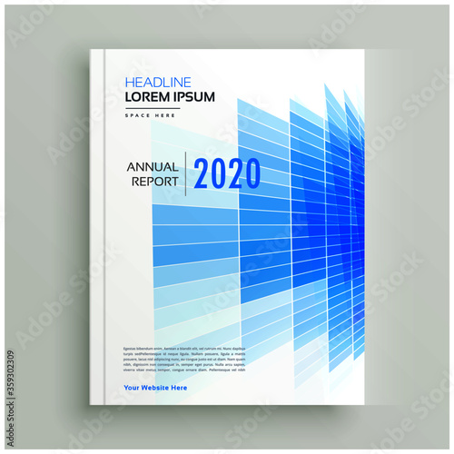 abstract blue business brochure leaflet design Canvas Print