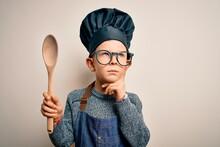 Young Little Caucasian Cook Ki...