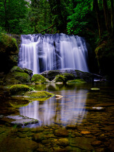 Waterfalls In Rainforest With ...