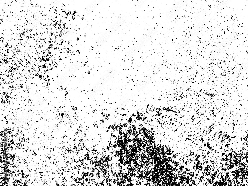 Fototapeta Black and white grunge. Distress overlay texture. Abstract surface dust and rough dirty wall background concept. Distress illustration simply place over object to create grunge effect . Vector EPS10.