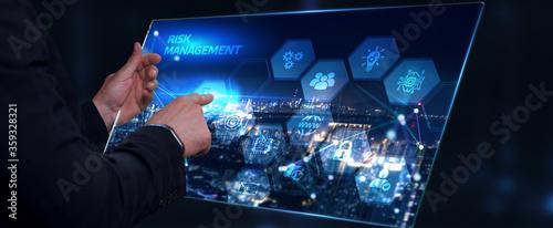 Obraz na plátně Risk Management and Assessment for Business Investment Concept