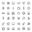 Electronics set line icons