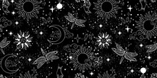Seamless Mystical Pattern, Uni...