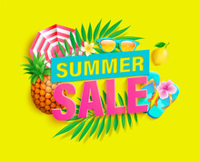 Bright Sale Banner For Summer ...