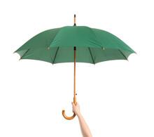 Hand With Stylish Umbrella On ...