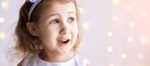 Happy Amazed Female Kid Emotio...