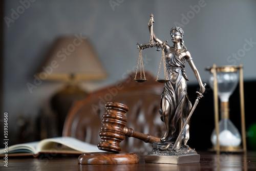 Judge chamber Canvas Print
