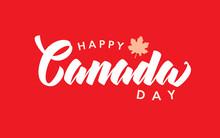 Happy Canada Day Handwritten L...