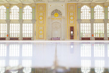 The Interior Of A Mosque, With...