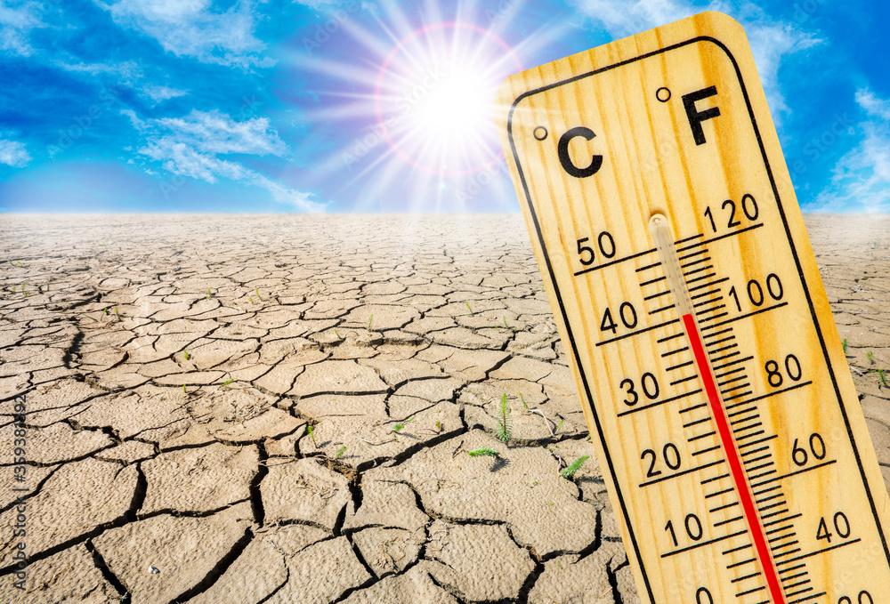 Fototapeta high temperature, heat and dryness