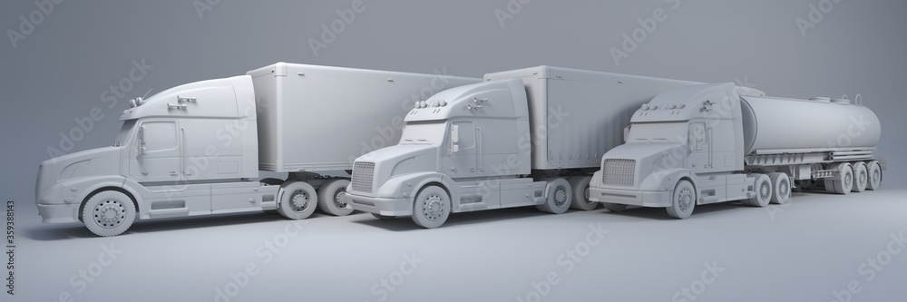 Fototapeta Cargo Delivery Vehicle Fleet