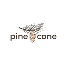 Pine Cone Vintage Retro Logo Vector Icon Illustration