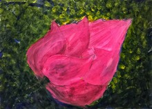 Pink Lotus Flower Painting Pic...