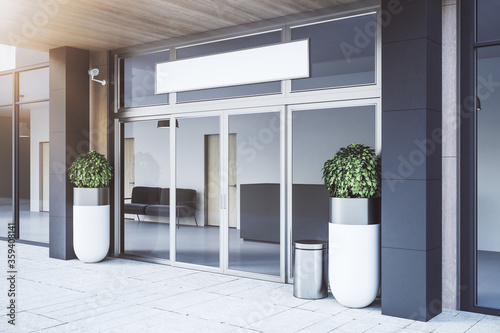 Luxury entrance to business center.