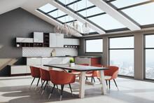 Luxury Loft Kitchen Interior W...