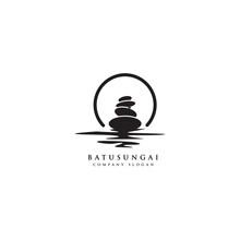 Stone Rock Balancing Logo Desi...
