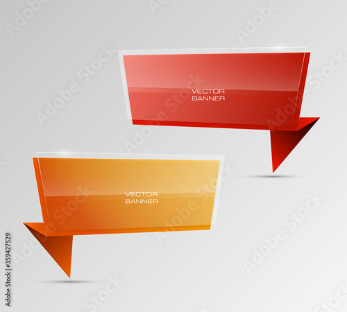 Photo Design shape Origami vector banner