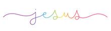 JESUS Rainbow Vector Monoline ...