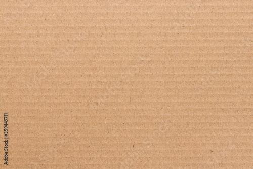 Brown cardboard sheet background, texture of recycle paper box. Fotobehang
