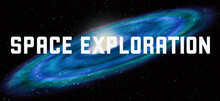 Space Exploration Theme With Cosmic Spiral Galaxy Background