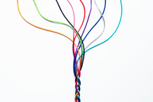 Coloured String Woven Together...