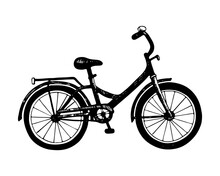 Bicycle Drawn In The Style Of ...