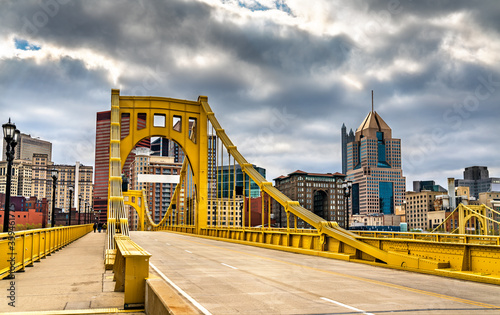 Andy Warhol Bridge across the Allegheny River in Pittsburgh, Pennsylvania Canvas Print