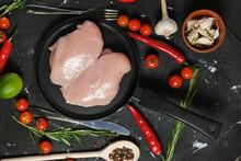Chicken Fillet In A In A Fryin...